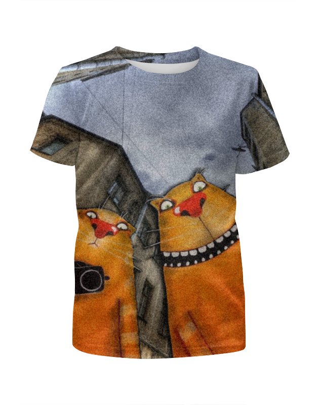 Футболка с полной запечаткой для девочек Printio Ганста коты футболка с полной запечаткой для девочек printio пртигр arsb