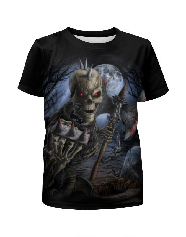 Printio Скелет с топором футболка с полной запечаткой для девочек printio скелет с гитарой
