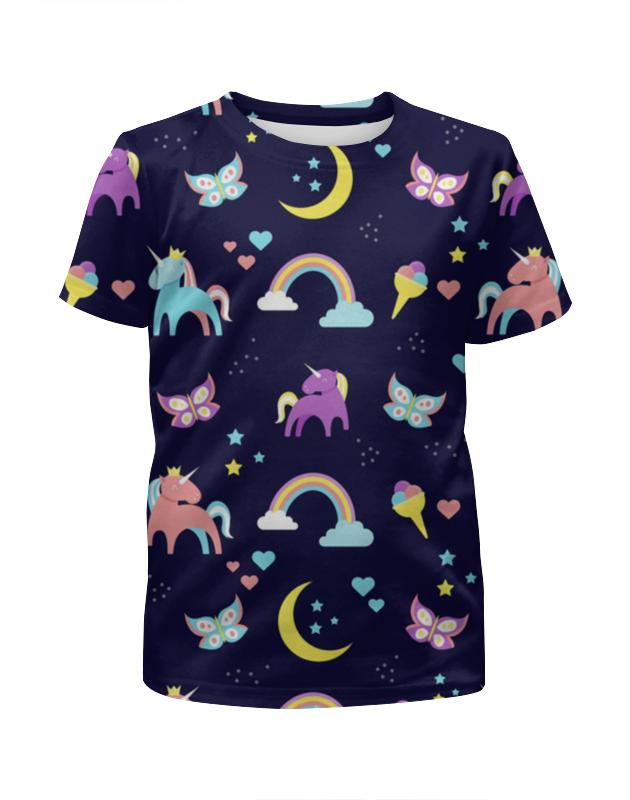 Футболка с полной запечаткой для девочек Printio Единорог футболка с полной запечаткой для девочек printio на отдых