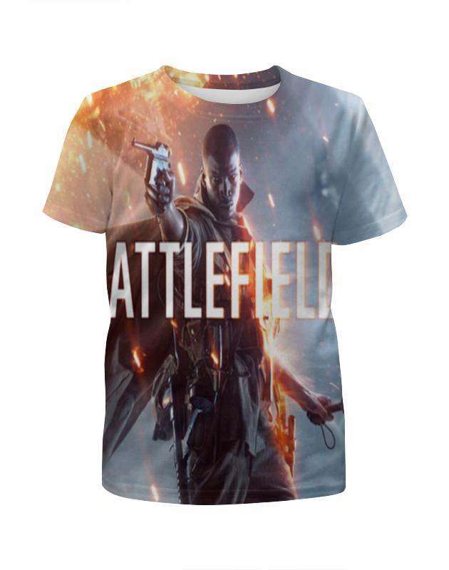 Футболка с полной запечаткой для девочек Printio Battlfefield 1 футболка с полной запечаткой для девочек printio spawn