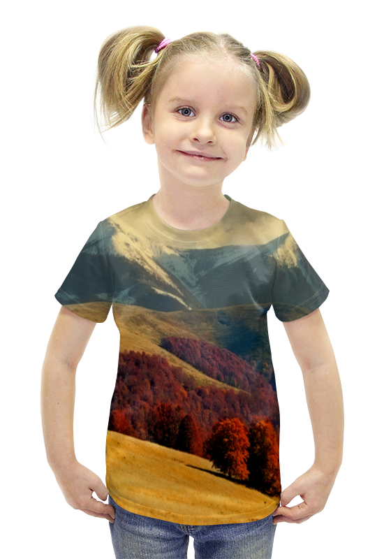 Футболка с полной запечаткой для девочек Printio Альпы футболка с полной запечаткой для девочек printio пртигр arsb
