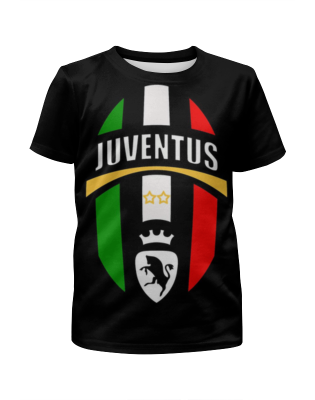 Футболка с полной запечаткой для девочек Printio Ювентус (juventus)