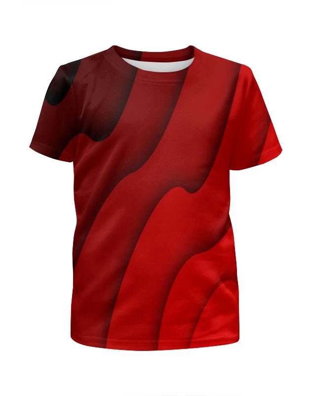 Футболка с полной запечаткой для девочек Printio Красные волны arina для девочек красные с белыми цветами