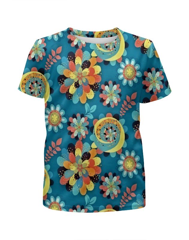 Футболка с полной запечаткой для девочек Printio Цветы в красках футболка с полной запечаткой для девочек printio закат в красках