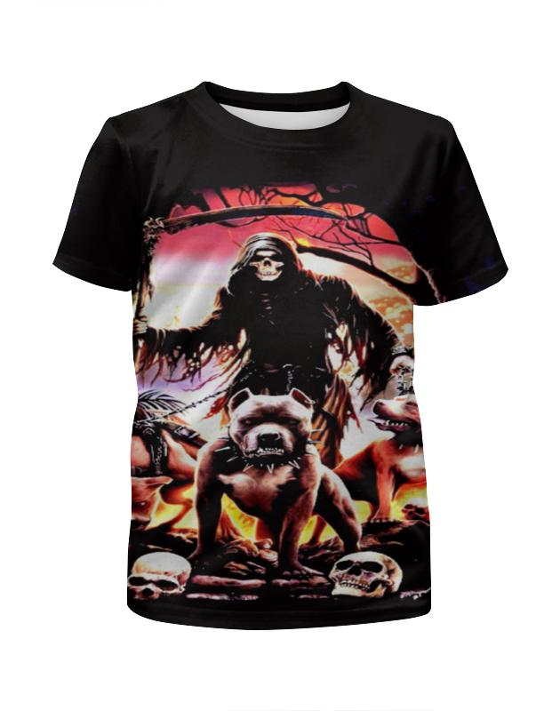 Футболка с полной запечаткой для девочек Printio Pit bull футболка для беременных printio бешенный бык raging bull