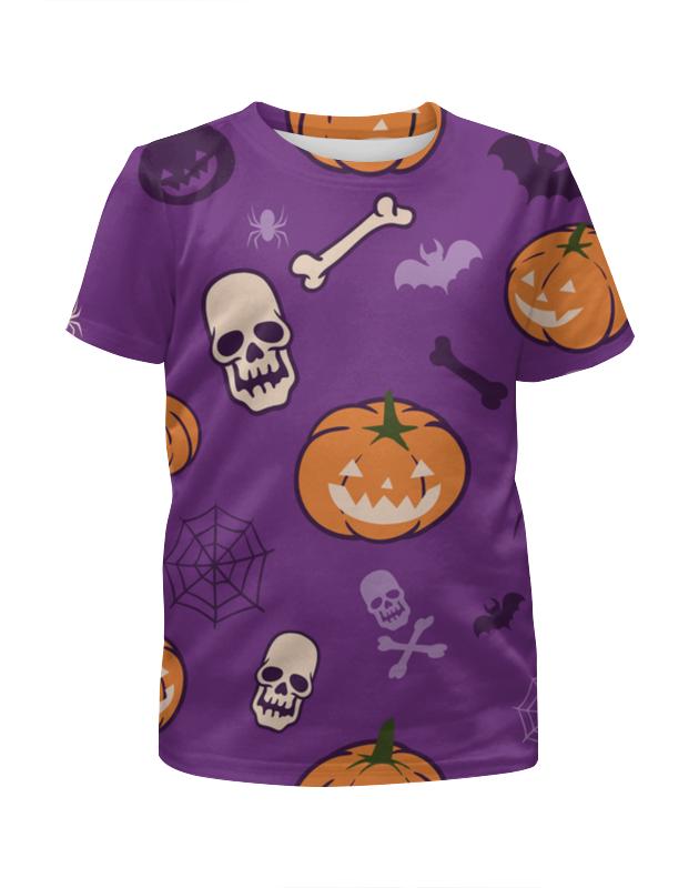 Футболка с полной запечаткой для девочек Printio Halloween детская одежда летнее платье для девочек полосатые платья для девочек для девочек партия принцесса дети одежда для девочек vestidos