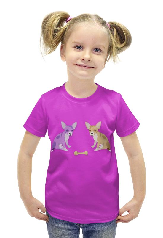 Футболка с полной запечаткой для девочек Printio Собачки футболка с полной запечаткой для девочек printio пртигр arsb
