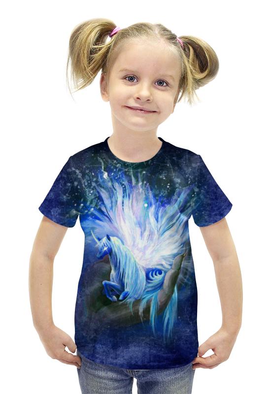 Футболка с полной запечаткой для девочек Printio Лунный единорог сотворенная футболка с полной запечаткой printio война миров z
