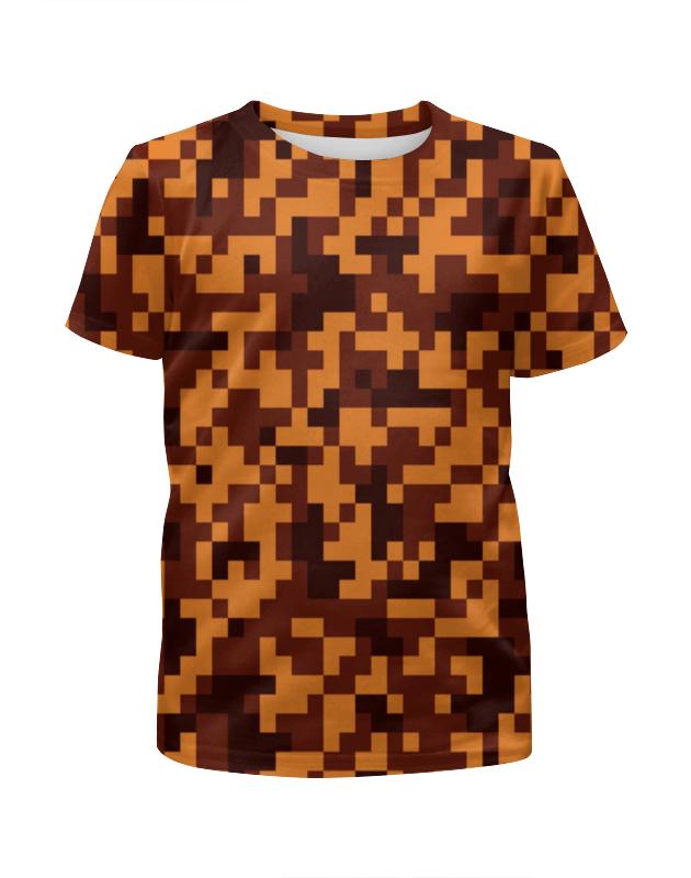Футболка с полной запечаткой для девочек Printio Коричневый камуфляж футболка с полной запечаткой для девочек printio пртигр arsb