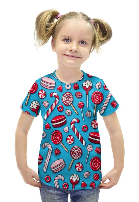 Футболка с полной запечаткой для девочек Printio Сладости футболка с полной запечаткой для девочек printio пртигр arsb