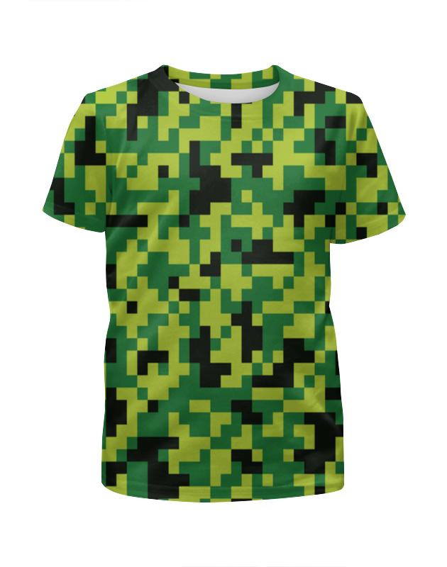 Футболка с полной запечаткой для девочек Printio Зеленые кубики футболка print bar кубики