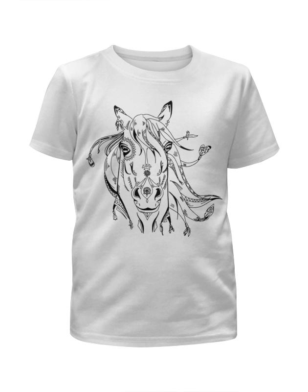 Футболка с полной запечаткой для девочек Printio Милая лошадка футболка с полной запечаткой для девочек printio пртигр arsb