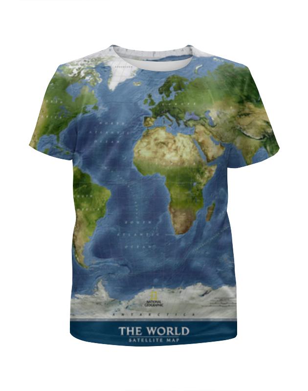 Футболка с полной запечаткой для девочек Printio Карта мира футболка с полной запечаткой мужская printio карта мира вселенная