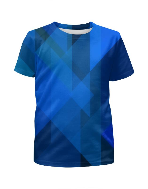 Футболка с полной запечаткой для девочек Printio Синий абстрактный футболка с полной запечаткой для девочек printio синий огонь