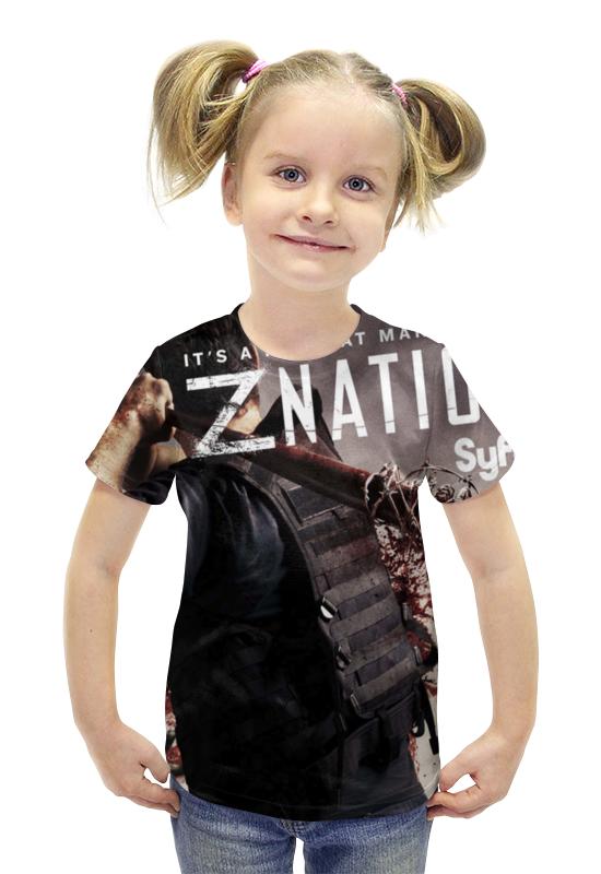 Футболка с полной запечаткой для девочек Printio Нация z / z nation футболка с полной запечаткой для девочек printio война миров z