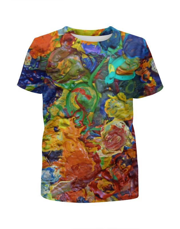 Футболка с полной запечаткой для девочек Printio краска футболка с полной запечаткой для девочек printio жидкие краски