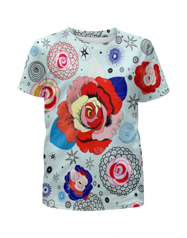 Футболка с полной запечаткой для девочек Printio Цветочки футболка с полной запечаткой для девочек printio мишка тед