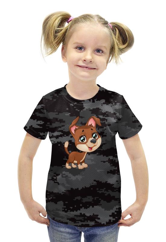 Футболка с полной запечаткой для девочек Printio Собачка футболка с полной запечаткой для девочек printio spawn