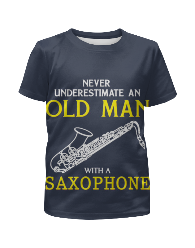 Футболка с полной запечаткой для девочек Printio Old man saxophone tenor saxophone instrument 54 selmer b flat saxophone tenor antique copper free shipping sound quality promotions sax
