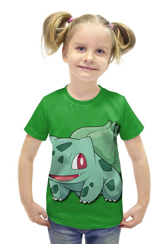 Футболка с полной запечаткой для девочек Printio Бульбазавр футболка с полной запечаткой для девочек printio пртигр arsb