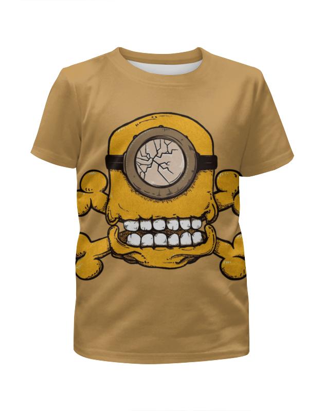 Printio Skull minion футболка с полной запечаткой для девочек printio grunge skull