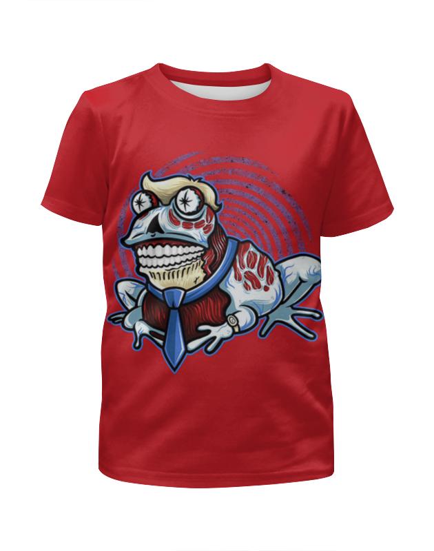 Футболка с полной запечаткой для девочек Printio Гипнотическая лягушка футболка с полной запечаткой для девочек printio пртигр arsb