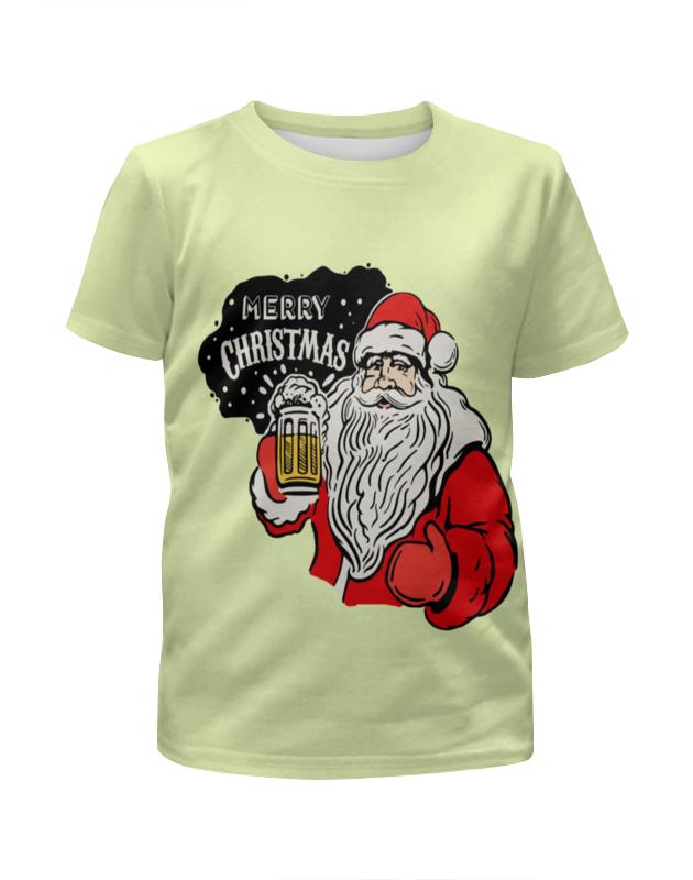 Футболка с полной запечаткой для девочек Printio Merry christmas цены онлайн