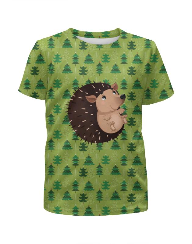 Футболка с полной запечаткой для девочек Printio Забавный ёжик футболка с полной запечаткой для девочек printio пртигр arsb