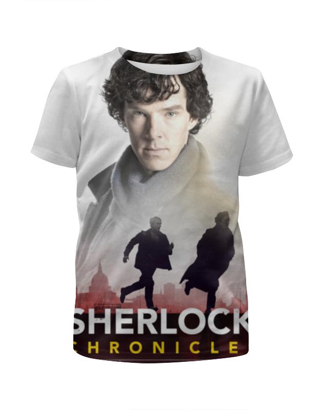 Футболка с полной запечаткой для девочек Printio Sherlock holmes dayle a c the adventures of sherlock holmes рассказы на английском языке