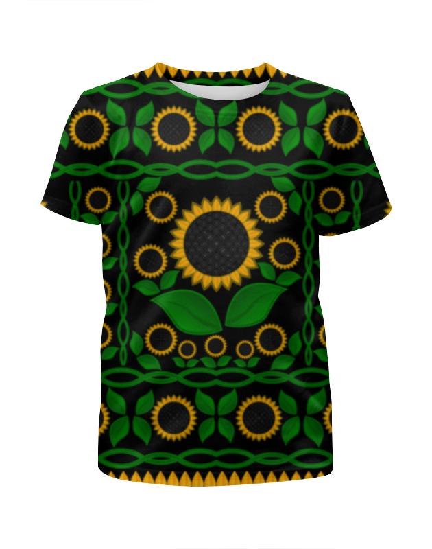 Футболка с полной запечаткой для девочек Printio Подсолнух футболка с полной запечаткой женская printio подсолнух