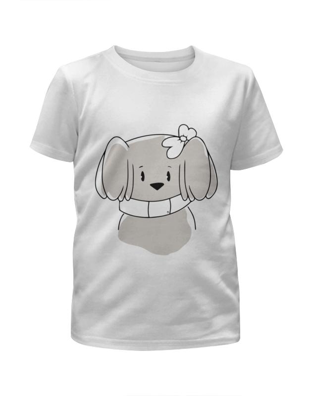 Футболка с полной запечаткой для девочек Printio Забавная собачка футболка с полной запечаткой для девочек printio пртигр arsb