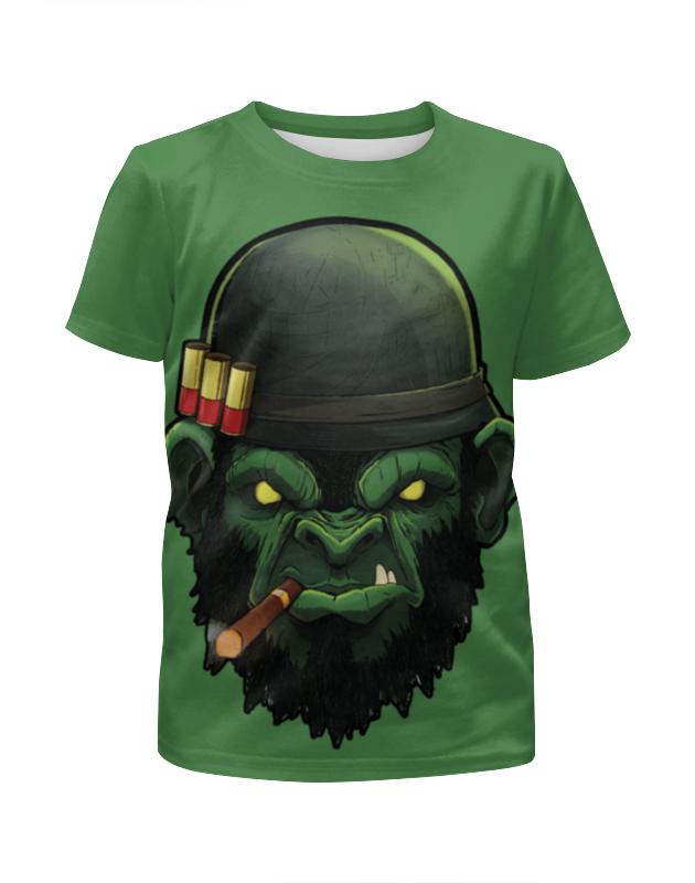 Футболка с полной запечаткой для девочек Printio War monkey/обезьяна футболка с полной запечаткой мужская printio war monkey обезьяна
