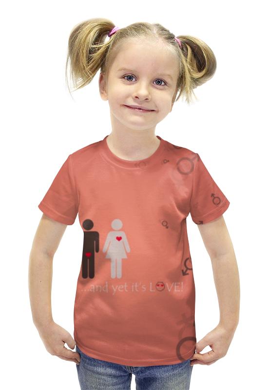 Футболка с полной запечаткой для девочек Printio Любовь футболка с полной запечаткой для девочек printio пртигр arsb