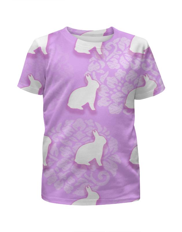 Футболка с полной запечаткой для девочек Printio Зайцы футболка с полной запечаткой мужская printio зайцы