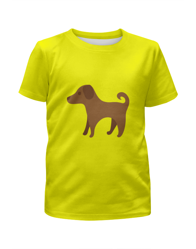 Футболка с полной запечаткой для девочек Printio Милый щенок футболка с полной запечаткой для девочек printio милый кролик