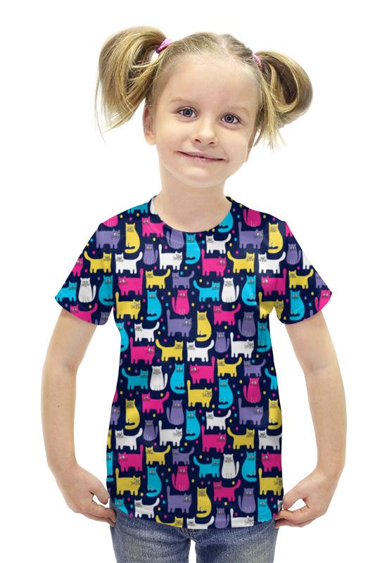 Футболка с полной запечаткой для девочек Printio Котики футболка с полной запечаткой для девочек printio spawn