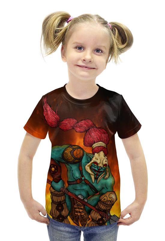 Футболка с полной запечаткой для девочек Printio Dota2 - huskar футболка с полной запечаткой для девочек printio dota 2 ember spirit