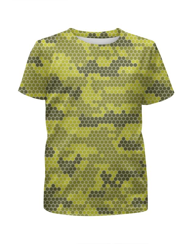 Printio Камуфляж футболка с полной запечаткой для девочек printio голубой камуфляж
