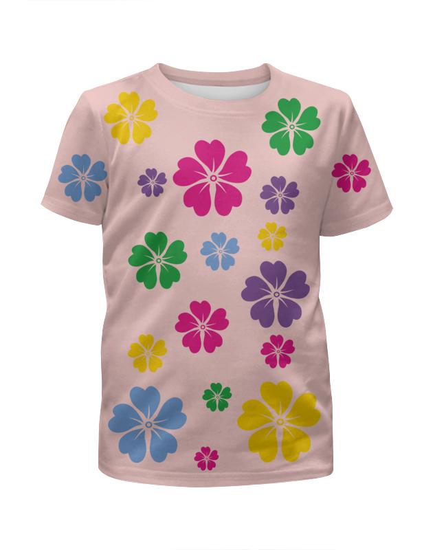 Футболка с полной запечаткой для девочек Printio В цветочках футболка с полной запечаткой для девочек printio пртигр arsb