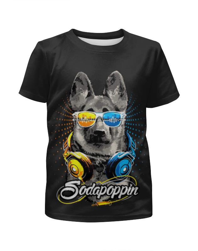 Футболка с полной запечаткой для девочек Printio Собака меломан футболка с полной запечаткой для девочек printio собака