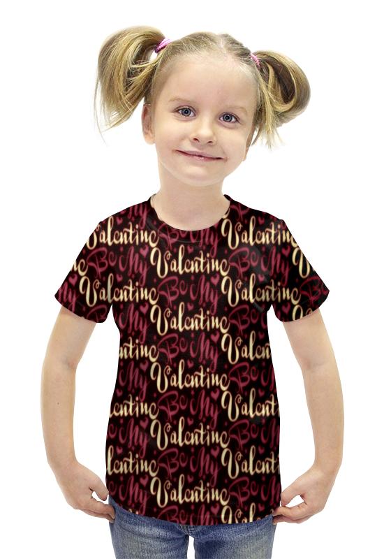 Футболка с полной запечаткой для девочек Printio Valentine футболка с полной запечаткой для девочек printio spawn