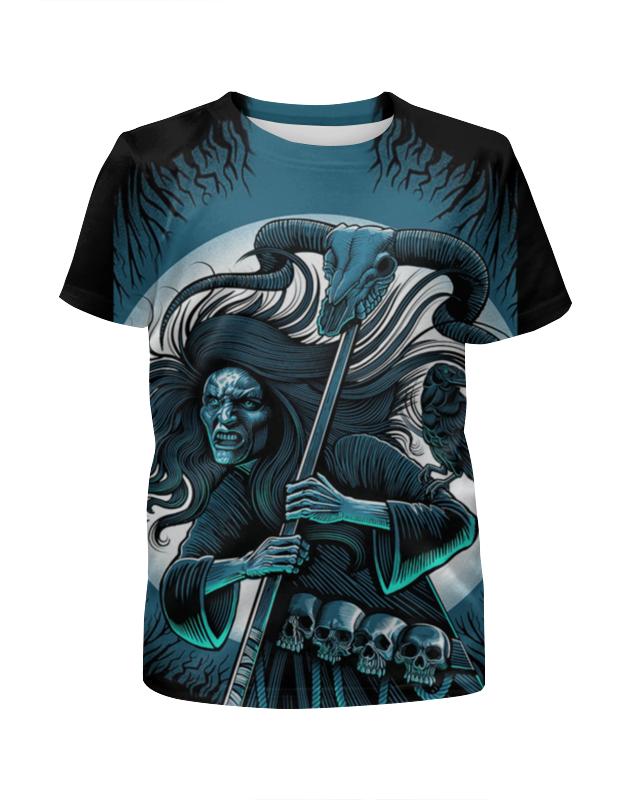Футболка с полной запечаткой для девочек Printio Смерть с косой футболка с полной запечаткой для мальчиков printio смерть с косой и скейтом