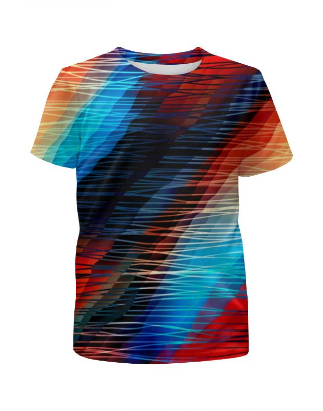 Футболка с полной запечаткой для девочек Printio Цветные текстуры футболка с полной запечаткой мужская printio цветные текстуры