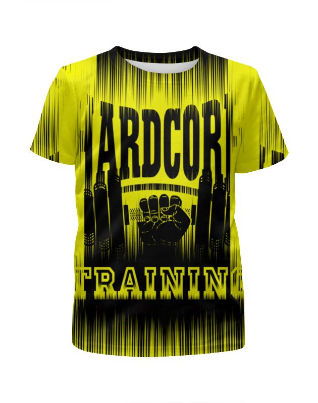 все цены на Футболка с полной запечаткой для девочек Printio Hardcore training!!! онлайн