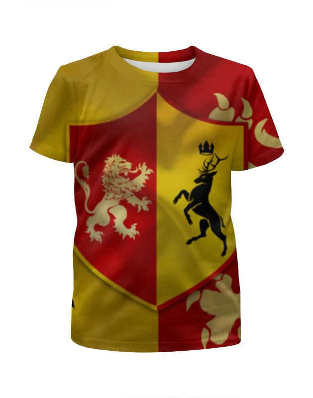 Футболка с полной запечаткой для девочек Printio Игра престолов (game of thrones) футболка для беременных printio game of thrones игра престолов