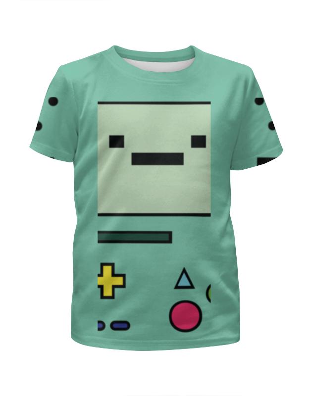 Футболка с полной запечаткой для девочек Printio Adventure time bmo цены онлайн