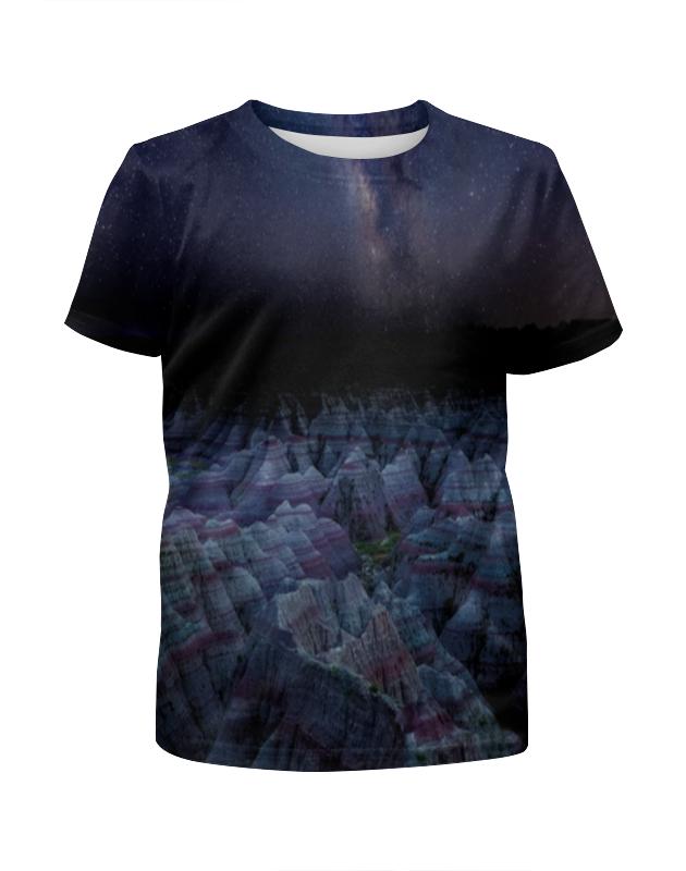 Футболка с полной запечаткой для девочек Printio Звёздная ночь футболка с полной запечаткой для девочек printio slove arsb
