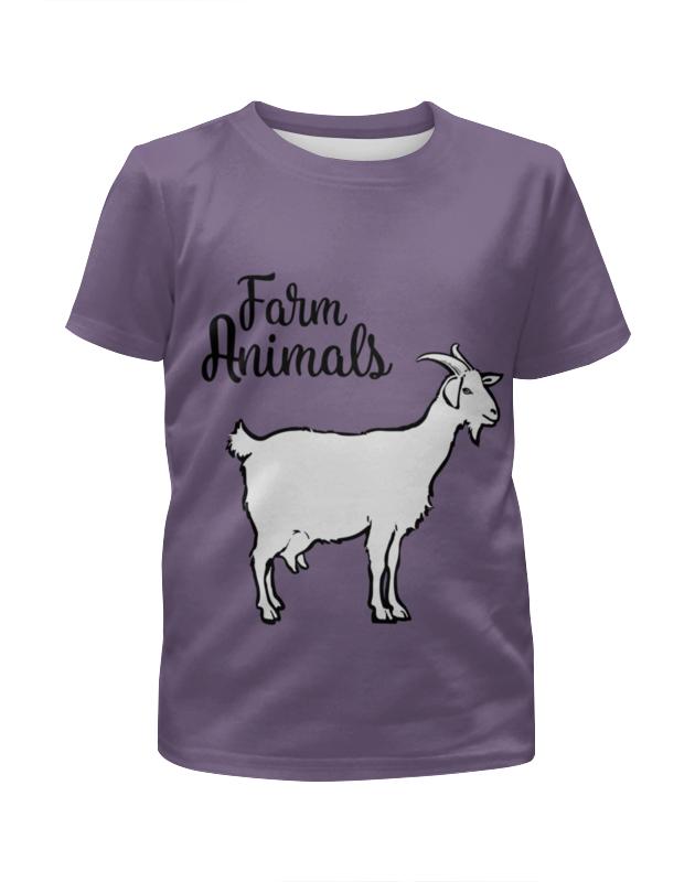 Футболка с полной запечаткой для девочек Printio Farm animals цена