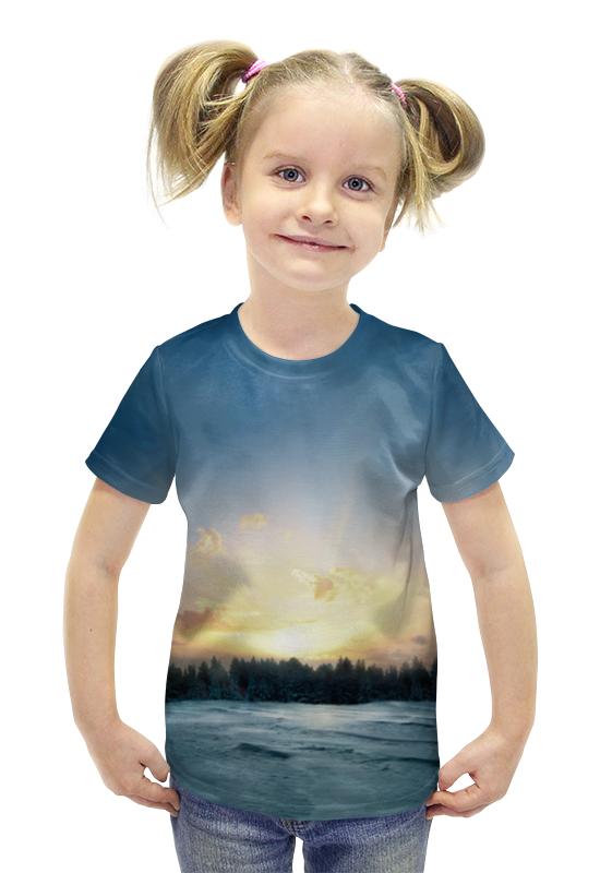 Футболка с полной запечаткой для девочек Printio Сумерки футболка с полной запечаткой для девочек printio пртигр arsb