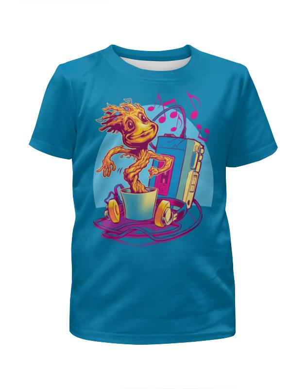 Футболка с полной запечаткой для девочек Printio Микстейп грута футболка с полной запечаткой для девочек printio spawn
